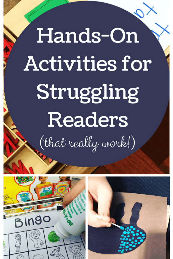 Hands-On Activities For The Struggling Reader #dyslexia #specialneeds #specialeducation #readingdelay #autism #adhd