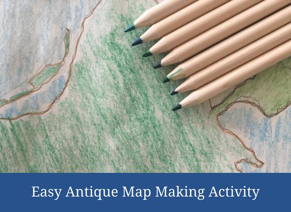 Easy Antique Map Making Activity #handsonlearning #kidsactivity #funfriday #homeschooling #homeschool #homeschoolmom