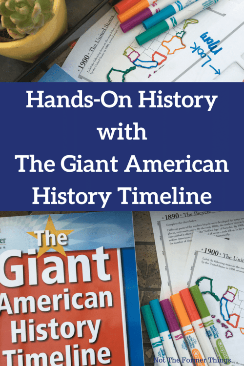 Hands-On History With The Giant American History Timeline #handsonlearning #history #homeschool #homeschoolhistory #historytimeline