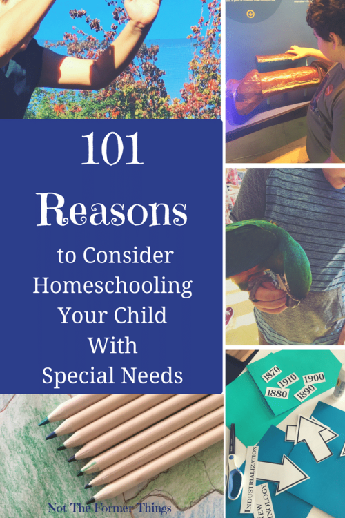 101 Reasons to consider homeschooling your child with special needs #specialneeds #specialneedsmom #specialneedsparenting #autism #adhd #specialeducation