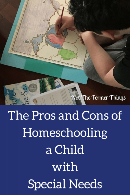 The Pros And Cons Of Homeschooling A Child With Special Needs #homeschoolingspecialneeds #homeschoolmom #specialneeds