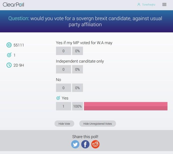 clear poll