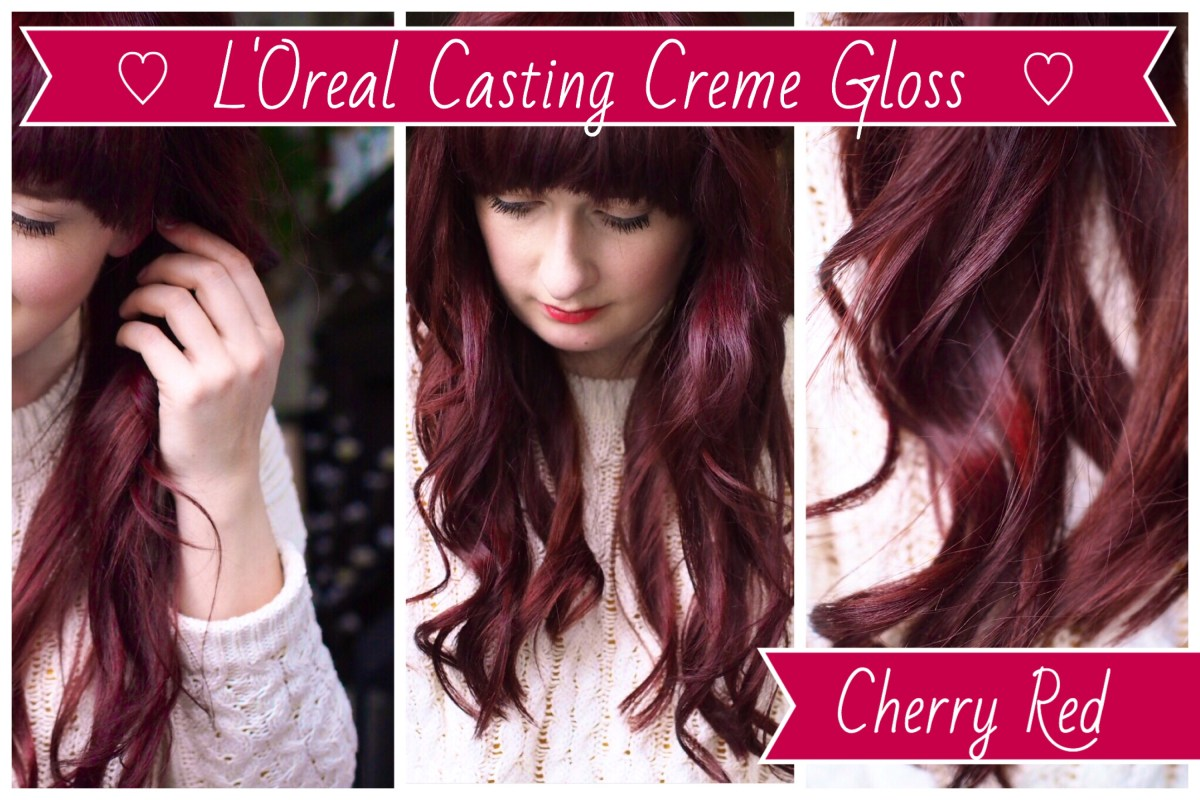 Cherry Red hair dye, LOreal Casting Creme Gloss
