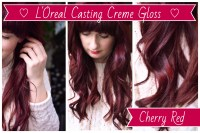 Cherry Red hair dye, LOreal Casting Creme Gloss | not the ...