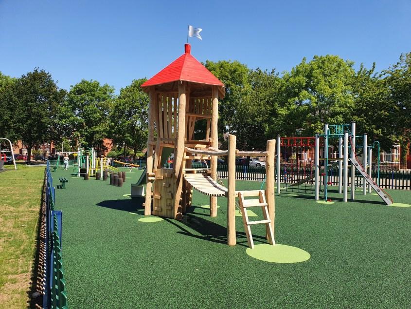 Photograph of new children's playground
