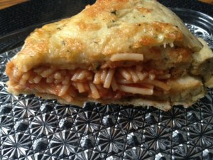 Spaghetti Stuffed Bread