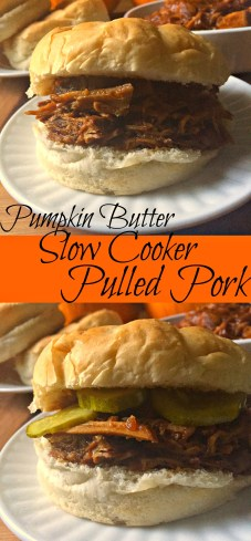 Pumpkin Butter Slow Cooker Pulled Pork CV