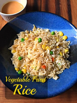 Vegetable fried rice CV