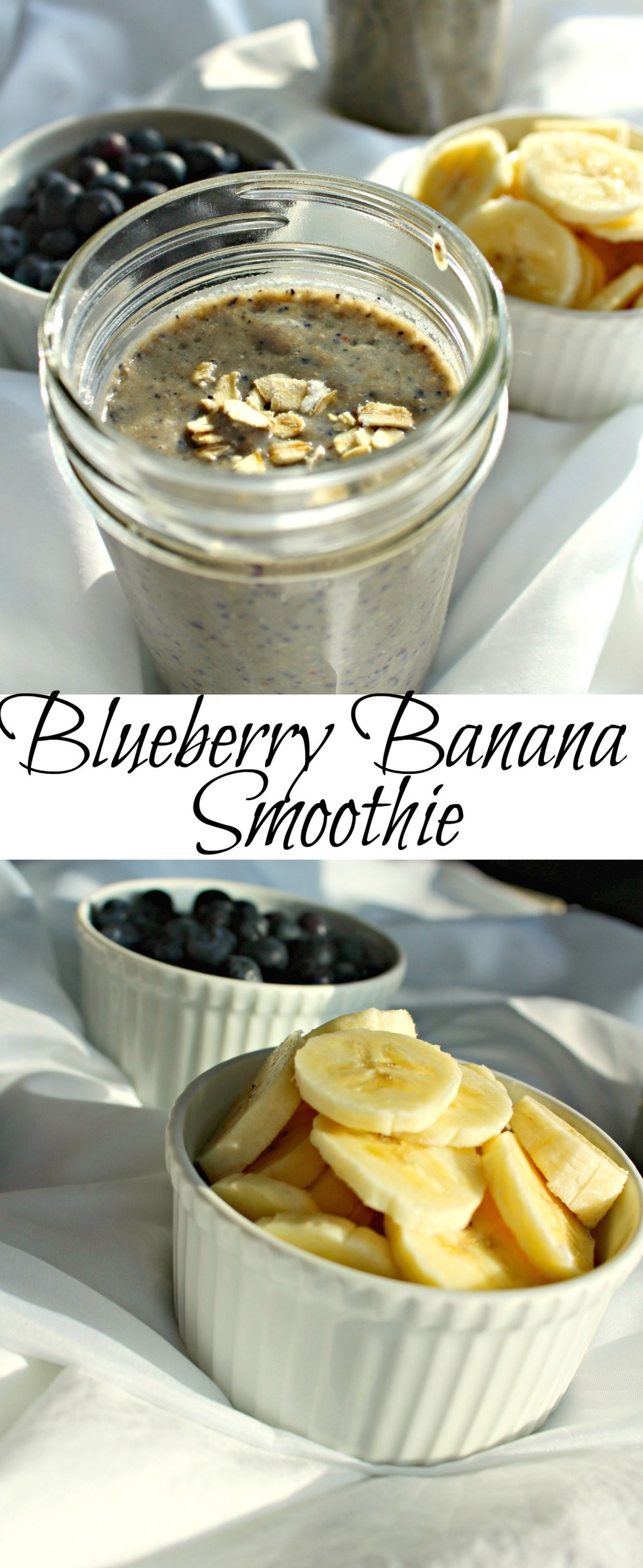 blueberry banana smoothie pin