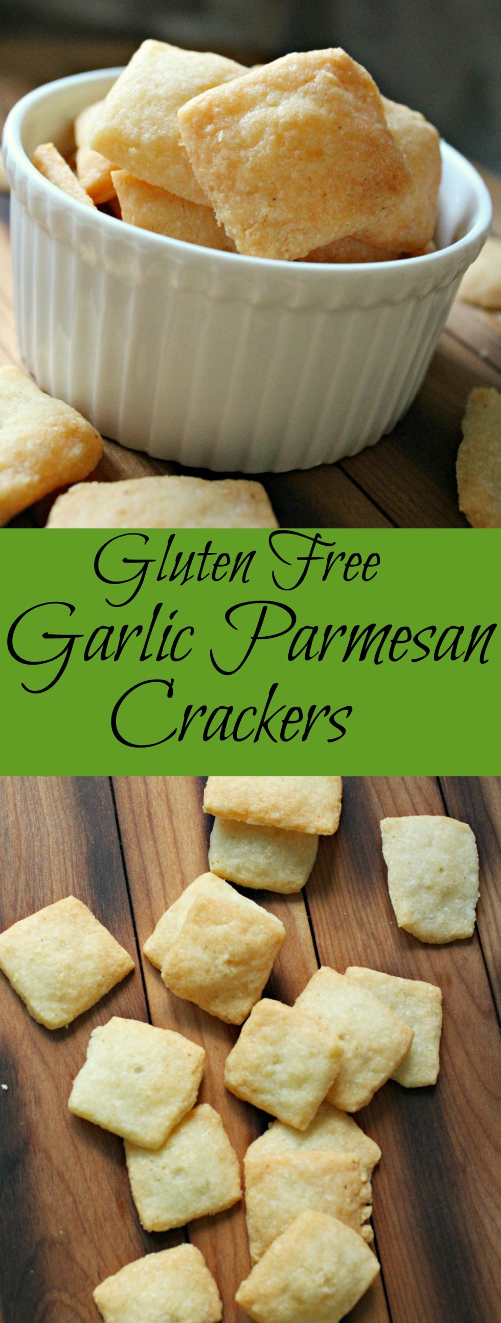 Garlic Parmesan Crackers Pin