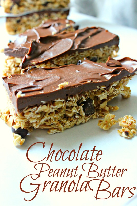 chocolate peanut butter granola bars CV
