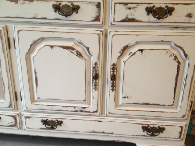 Shabby Chic Buffet Table  Salvaged Grace Sisters