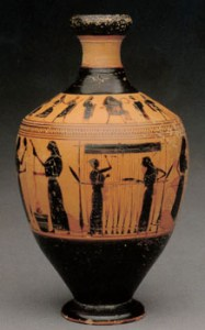 31.11.10 Lekythos attributed to the Amasis Painter Attic, ca 540 B.C. Terracotta scaned from met fipps