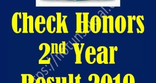 honors 2nd year result 2019
