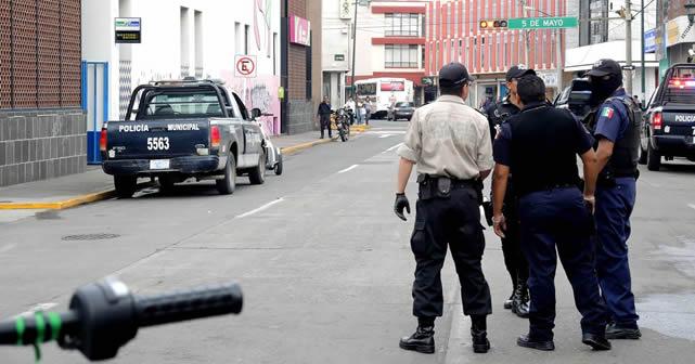 Movilización policiaca tras denuncia de asalto a Correos de México Foto NOTUS