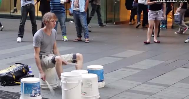 baterista callejero