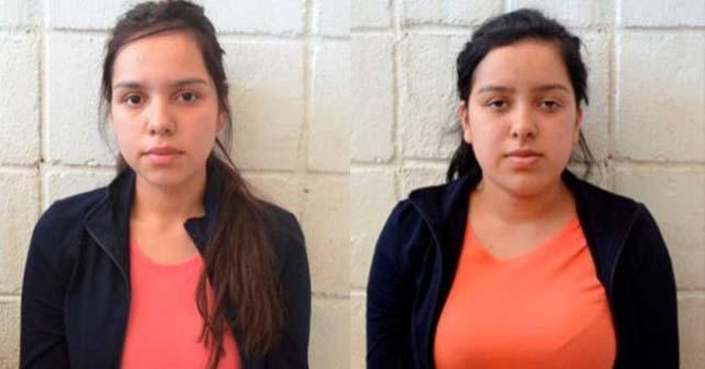 Las hermanas Morales Martínez. Izquierda, Rosa Angelica. Derecha, Karla.