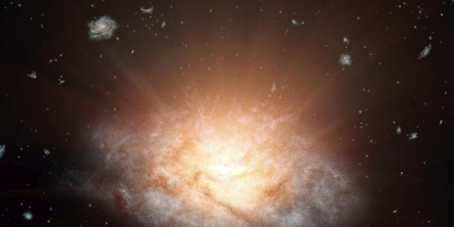 galaxia brillante