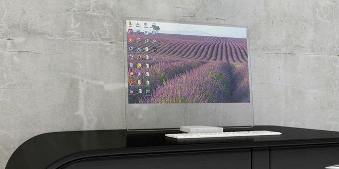monitor transparente