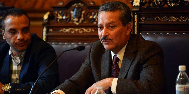 El alcalde, Ricardo Ortiz Gutiérrez.