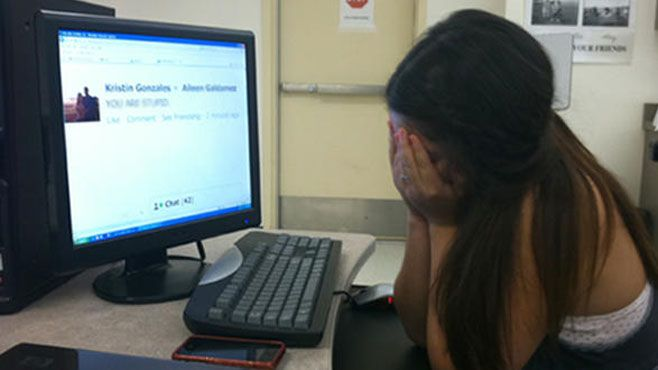 ciberbullying niña