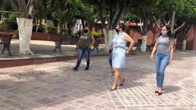 Photo of Supervisa Larisa Solórzano trabajos en la nueva calle Pino Suárez