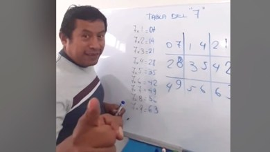 Photo of Profesor enseña divertida manera para multiplicar la tabla del 7