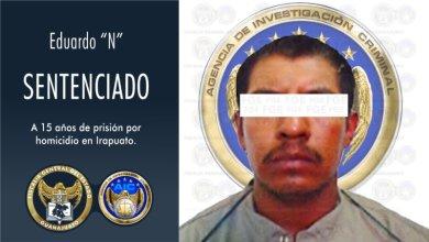 """Photo of Eduardo """"N"""" es sentenciado a 15 años de prisión por el homicidio de un hombre ocurrido en una fiesta en Irapuato"""
