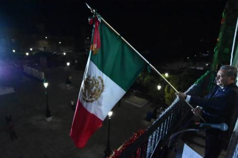 Ceremonia de Grito de Independencia, a distancia (10)
