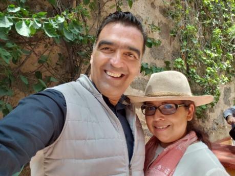 Raúl Contreras y su esposa Laura Orozco