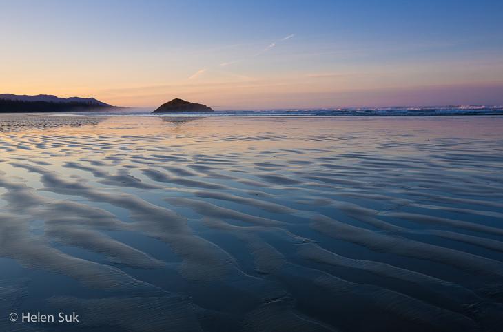 sunrise on long beach in tofino bc