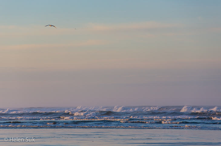 ocean waves at sunrise in tofino bc