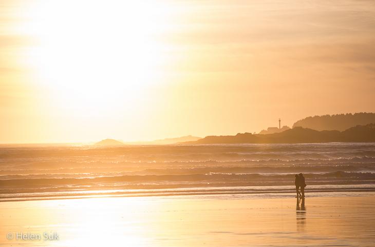 sunrise on cox bay beach in tofino bc