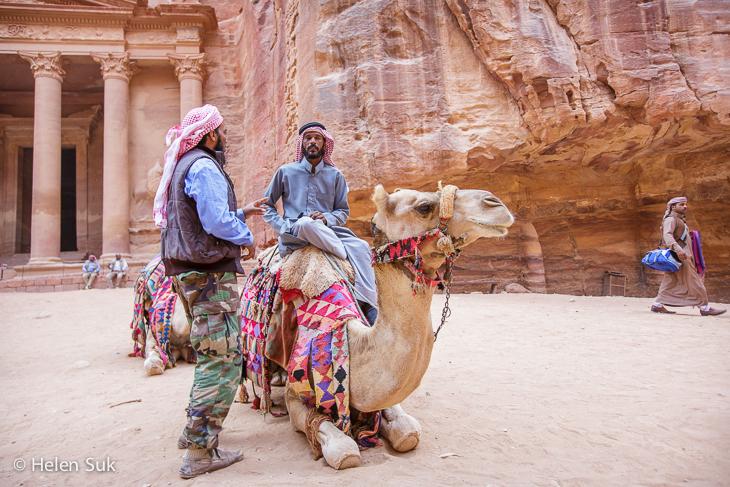 jordanians petra, camel, bedouins