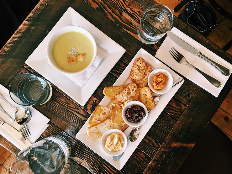 appetizers at east and main bistro
