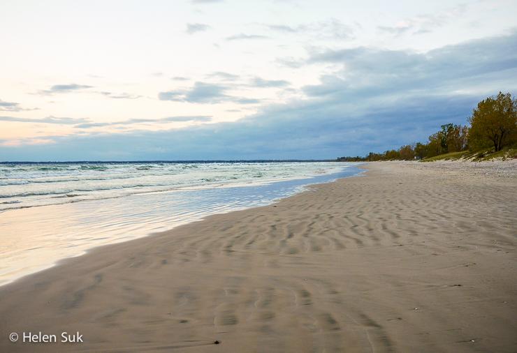 isolated beach at sandbanks provincial park