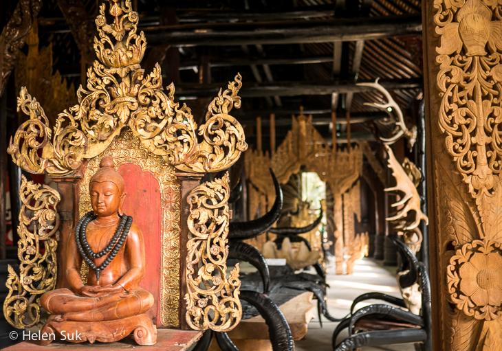 inside black house chiang rai