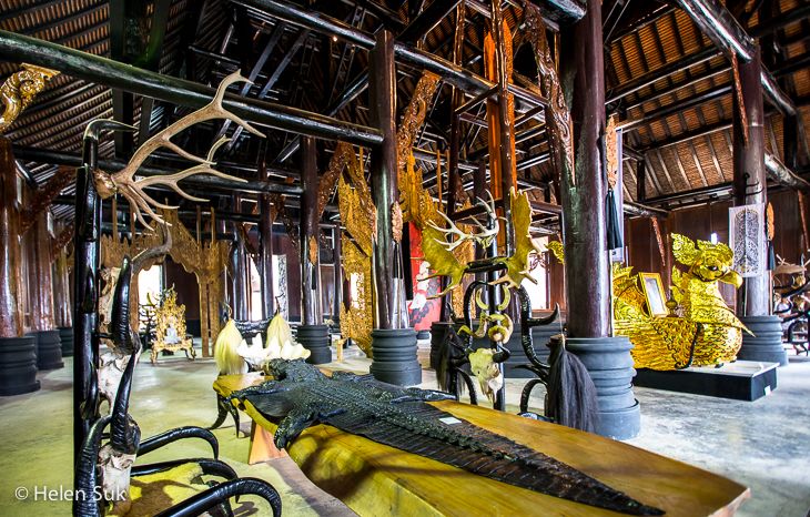 inside the main temple at black house in chiang rai