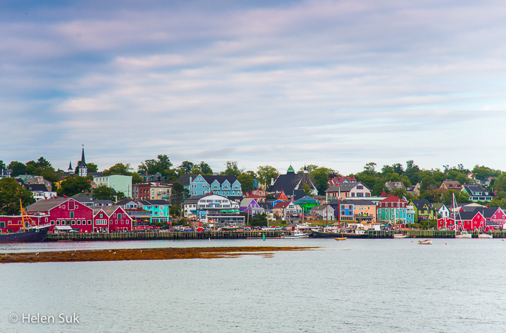 colourful buildings on the waterfront in lunenburg nova scotia