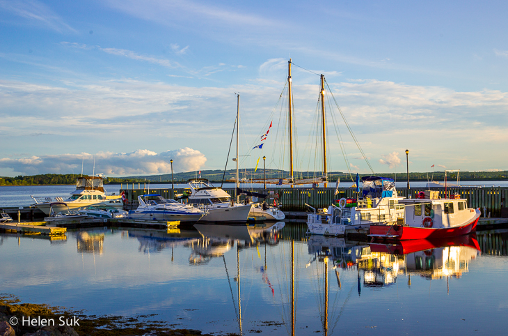 boats anchored in pictou harbour