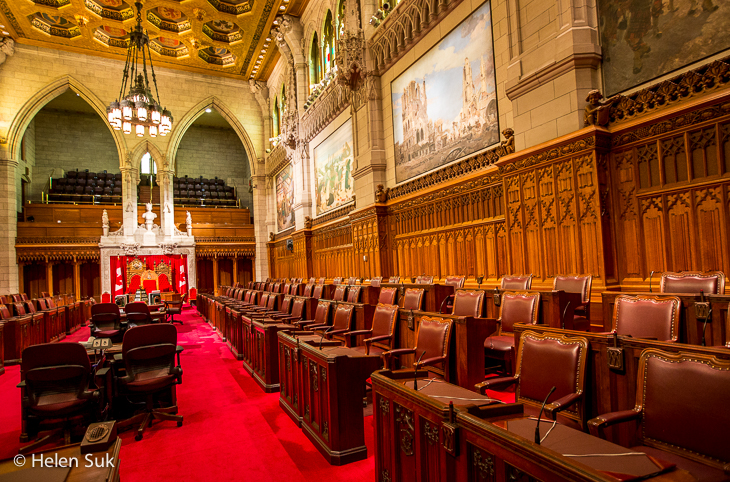 senate inside in the canadian parliament buildings