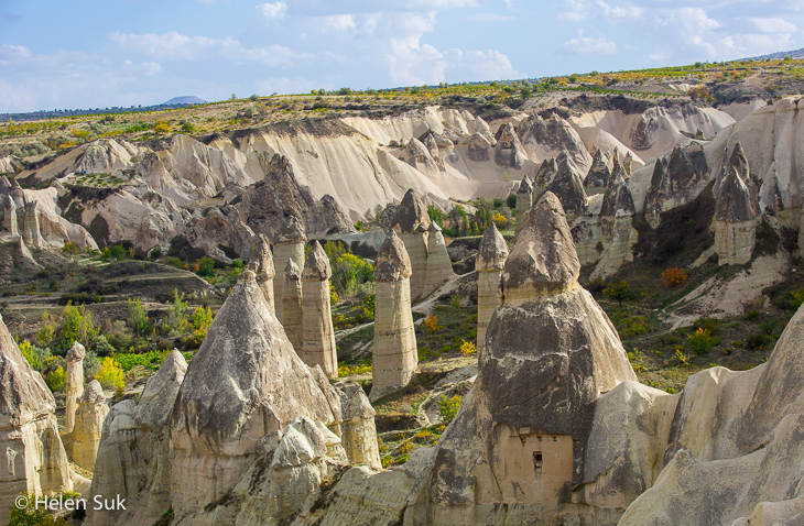 phallic-like rock formations in love valley cappadocia