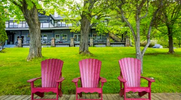 muskoka chairs at sir sams inn adults only resort ontario