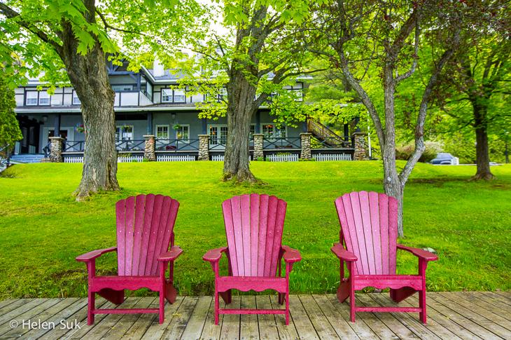 muskoka chairs at sir sams inn adults only resort ontario