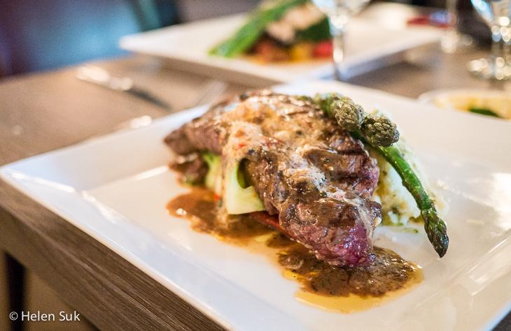 twin fires dining room steak dinner