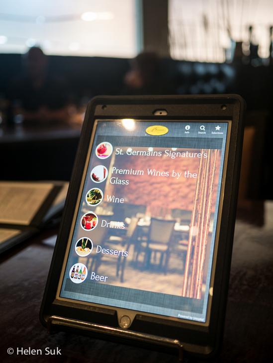 digital wine list at st germains