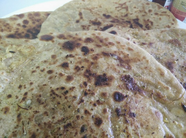 This  Indian traditional sweet stuffed roti is cooked in most house holds on festive occasions.