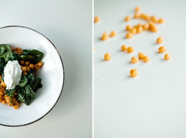 Dinner in 15: Harissa Chickpeas with spinach - Not Without ...