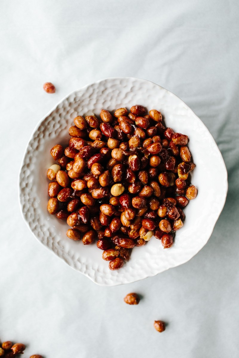 Holiday Recipes Sweet and Spicy Peanuts by Not Without Salt | Three Hearts Blog
