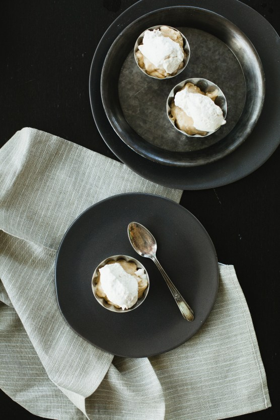 Butterscotch Pudding with Roasted Banana Whipped Cream ...